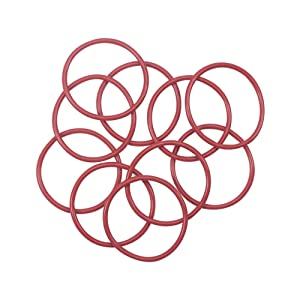 Othmro Red Silicone O-Ring, 58mm OD, 3.5mm Width, Oil Seal Rings Gasket, Sanitary Gasket Replacement Part Blender Accessory Refresh Kit Blender Kitchen, Pack of 10pcs