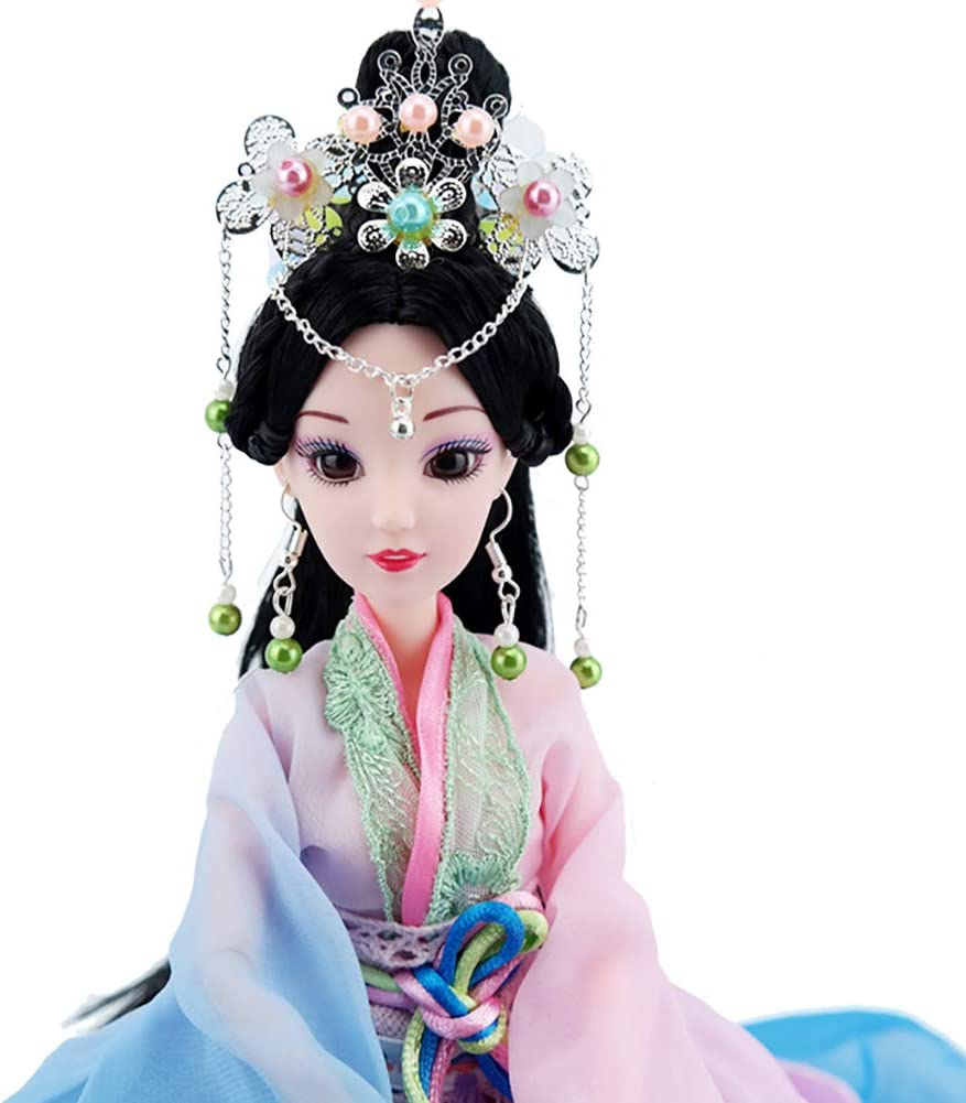 Doll Interior Doll for Room Decor Chinese Doll with Beautiful Dress and Unique Hairstyle Gift Oriental Decor