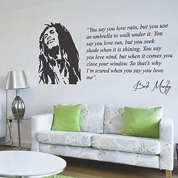 Amazoncom Wall Vinyl Decal Bob Marley You Say You Love Rain Lyrics