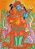 The Inseparable Radha Krishna - Kerala Mural