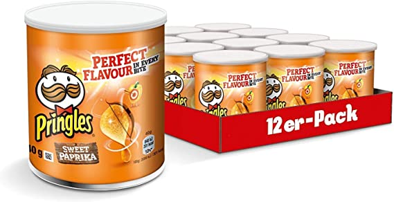 Pringles Paprika Crisps 40 gr. - [Pack 12]: Amazon.es ...