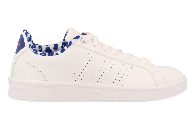 Adidas Damen CF Advantage Cl W Laufschuhe, Schwarz, 30.5 EU Weiß (Ftwbla / Ftwbla / Rosene 000)
