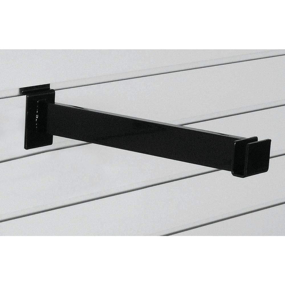 Black Rectangular Hangrail Bracket 12 Inch Long