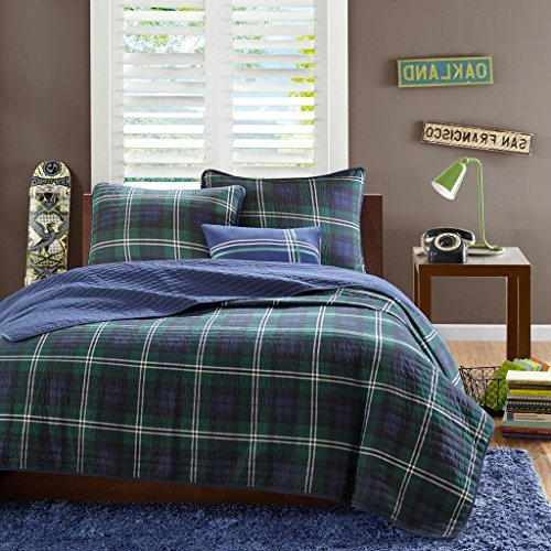 navy and green quilt - 2