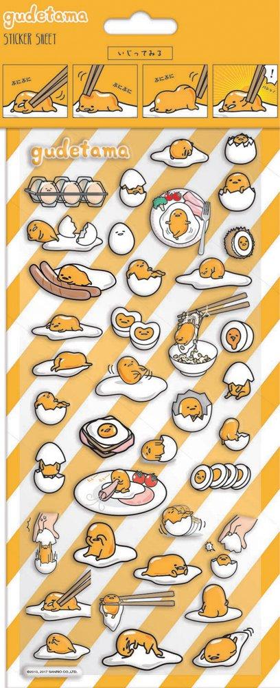 Sanrio Gudetama Egg Sticker Sheets