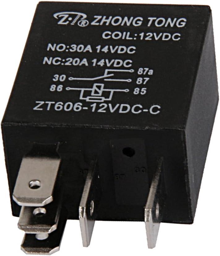 Relés para Coche Moto DC 12V 20A/30A AMP SPDT 5 Pin 5P