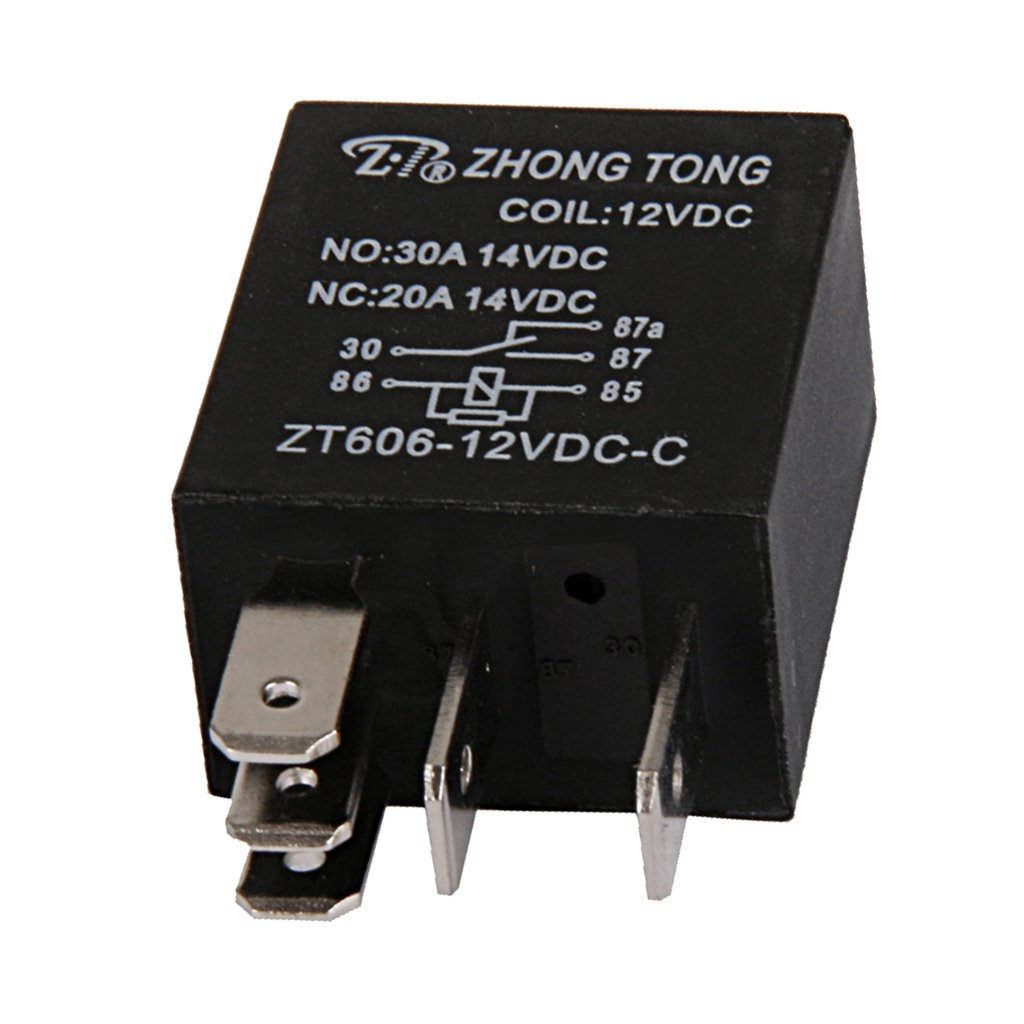 Baoblaze 20//30 Amp Car Relay Switch High Performance Replacement 12V DC 5-Pin SPDT Automotive Relay