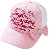 LeafIn ベビー 帽子 キッズ ハット 女の子 キャップ 野球帽 ボールキャップ リボン 日よけ 紫外線対策 UVcut帽子