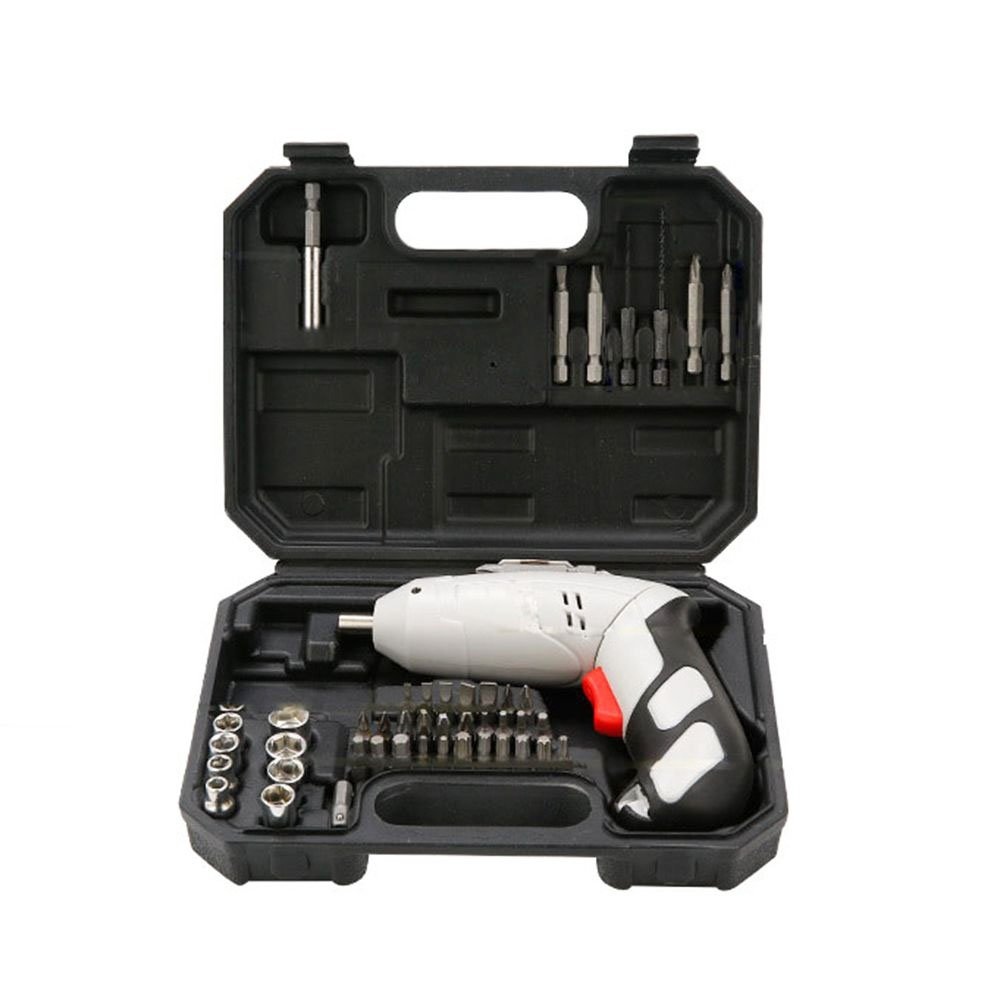 LUBAN 4.8V Portable Cordless Screwdriver,with 45 Pcs Screwdriver and Drill Repair Power Tools Set (220V)