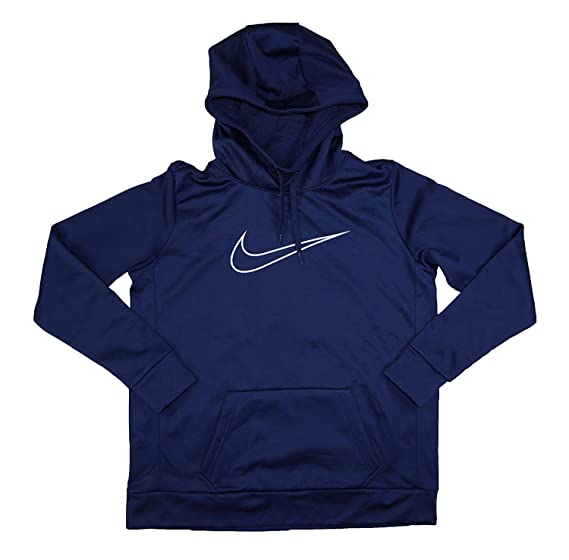 : NIKE Womens Fitness Training Hoodie Navy L: Clothing