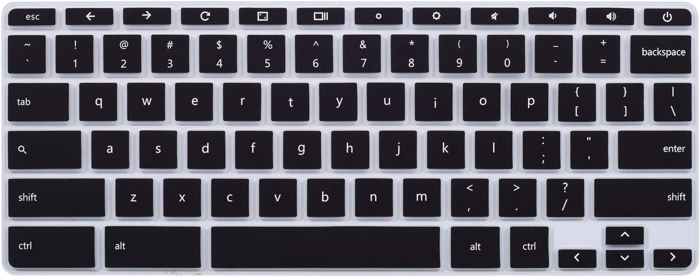 """ikammo Keyboard Cover Skins Compatible with 14 Inch HP Chromebook 14 G5 G3 G4 G2 14-X Series/ 11 Inch HP Chromebook 11 G2 G3 G4 G5, G6 EE/HP Chromebook 14"""" 14-ca 14-ak 14-db Series,Black"""