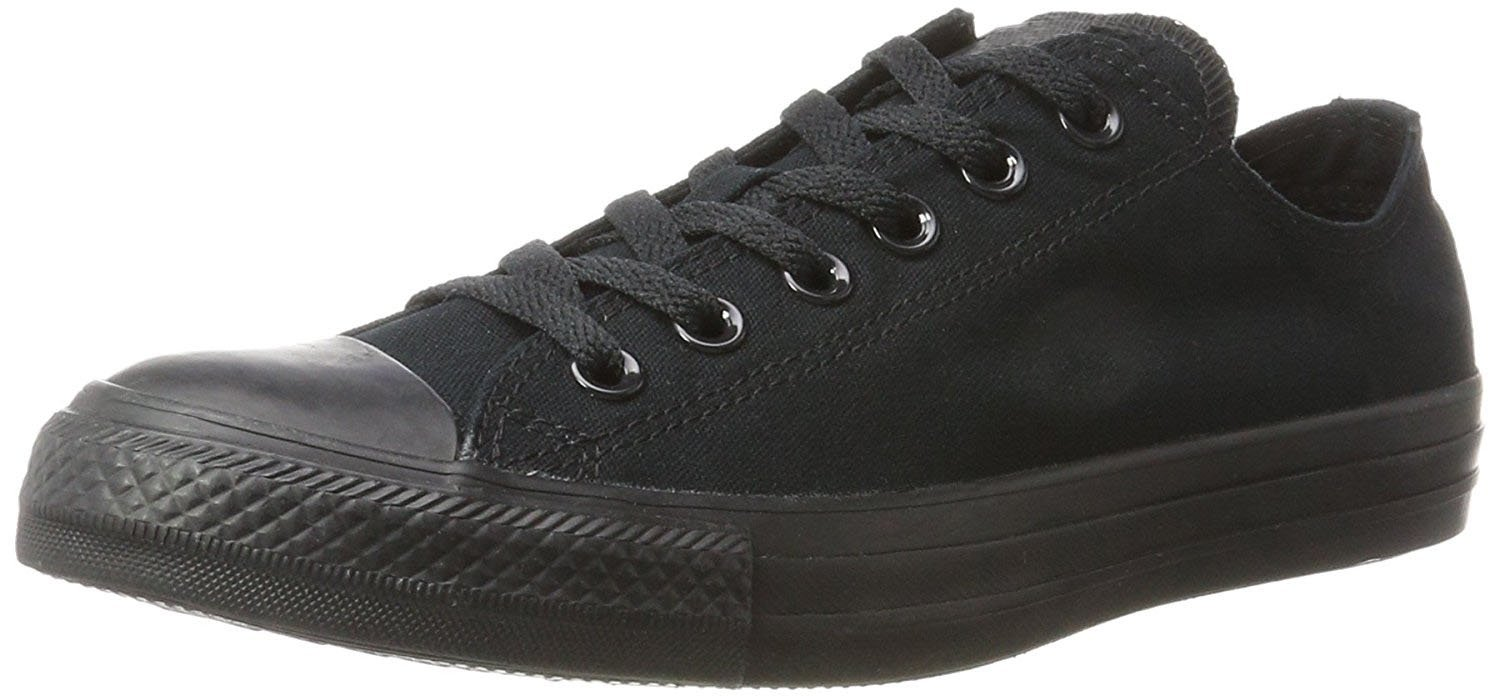 Kedi Women's Trendy Flower Mesh Lace Up Comfort Fashion Shoe Sneakers (6, Solid Black Lo-Top)