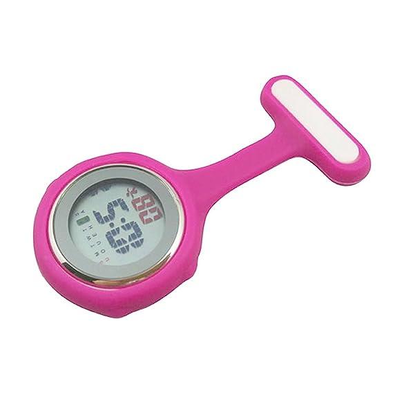 Reloj de enfermera digital (rosado)