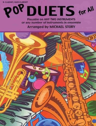 Pop Duets for All: B-flat Clarinet, Bass Clarinet (Instrumental Ensembles for All)