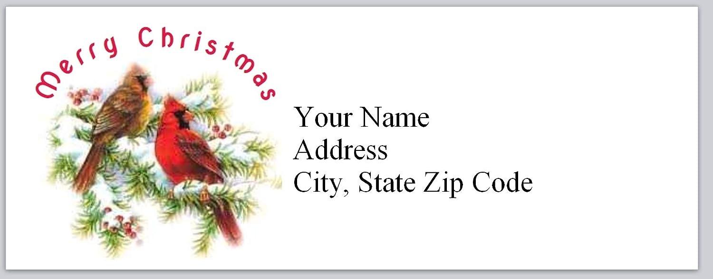 Address sticker. Set of 100 Custom Return Address Labels Self-adhesive address label Return address label Cardinal address label