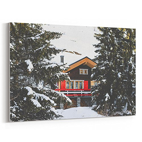 Westlake Photography - Canvas Print Wall - Snow Winter - Canvas Stretched Gallery Wrap - Modern Picture Photography Artwork - Ready to Hang - 18x12in (37x 9c2) - Amanda Wrap