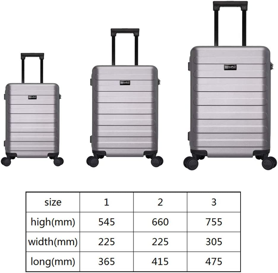 XIAOHAOHAO Trolley Case-Silent Universal Wheel-Anti-Theft-ABS Material Suitcase-Wearable Waterproof and Shockproof Suitcas,Black,28in