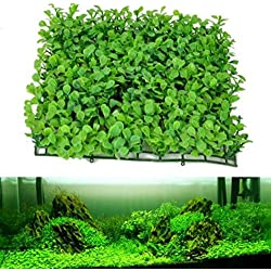 2pcs/ 25cmx25cm Aquarium Decorative Green Plastic Plant Grass Fish Tank Landscape Decoration