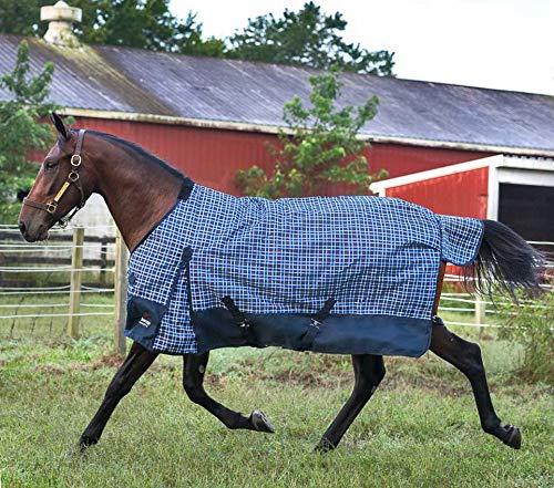 Horze Plaid Dakota 1200 Denier Waterproof Medium/Heavy Weight Turnout - 300g (Medium Weight Turnout)