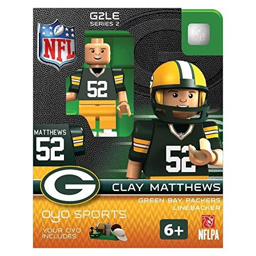 NFL Green Bay Packers Clay Matthews Gen 2 Mini Figure, Petit