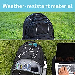 JETPAL Protective Water Resistant Backpack for Laptops Up to 15.6 Inch