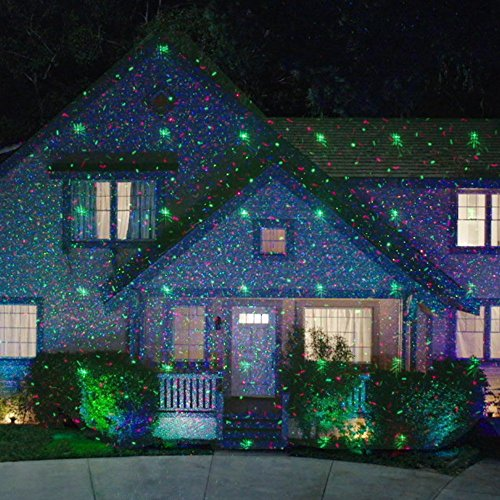 Star Night Laser Shower Christmas Lights Red Green