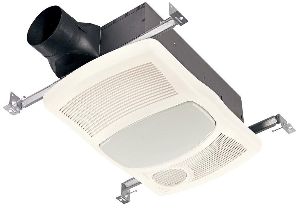 Broan 765HFL Ventilation Fan with Directionally-Adjustable Heater & Light (27W Fluorescent Lighting)