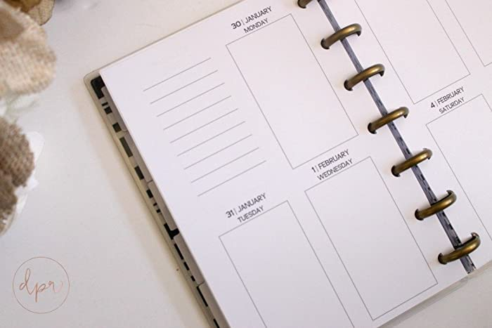 graphic regarding Free Mini Happy Planner Printable Inserts named : MINI Pleased Planner 7 days Upon 2 Web pages Vertical
