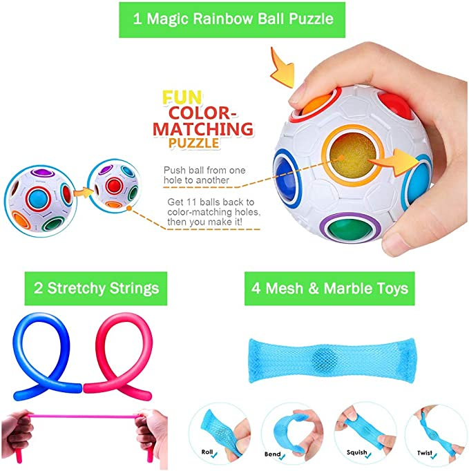 Juguetes para inquietudes Juguetes sensoriales Educaci/ón temprana para ni/ños Inteligencia Aprendizaje motorizado Juguetes para beb/és Regalos Juguetes para beb/és