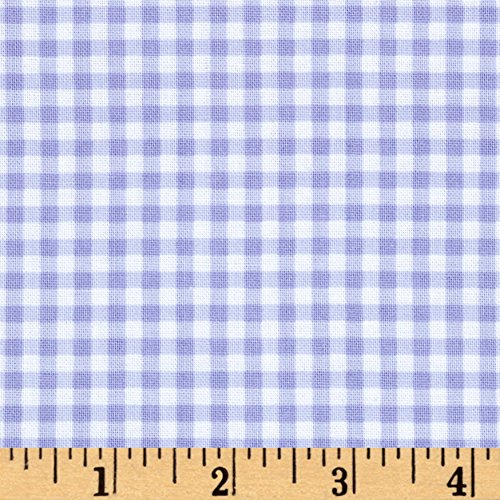 Hamil Textiles Flutter The Butterfly Gingham Check Lilac Fabric by The ()