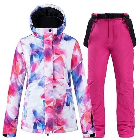 BOBD-DW Moda Traje De Nieve Colorido Ropa De Snowboard para Mujer ...