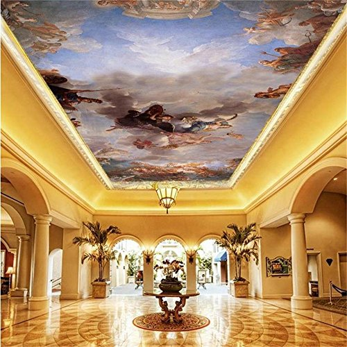 3D wallpaper custom size photo living room hang ceiling, used for sale  Delivered anywhere in Canada