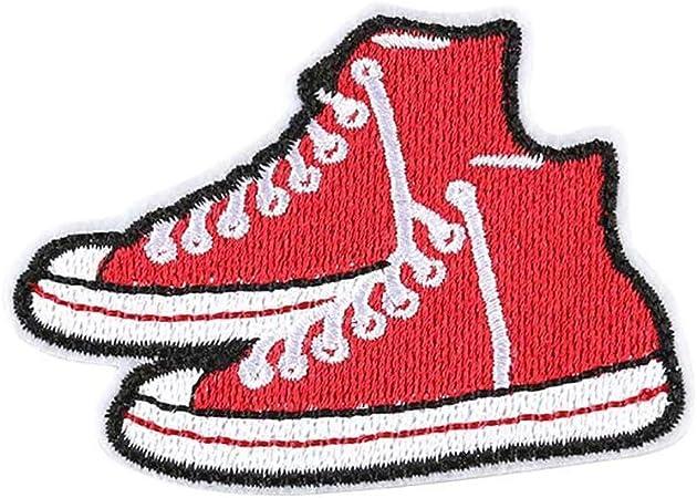 Vikenner 10Pcs Zapatillas de deporte Parches Zapatos Bordado Bricolaje Accesorio para Ropa Vestidos Sombreros Vaqueros Apliques: Amazon.es: Hogar
