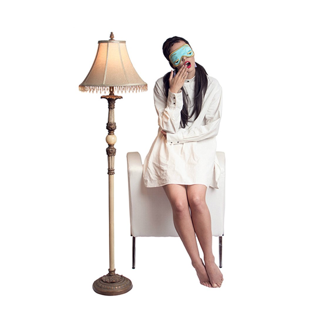 Utopiat Sleep Set - Audrey Hepburn Breakfast at Tiffany's, Shirt, Mask, Tassel Earrings by Utopiat