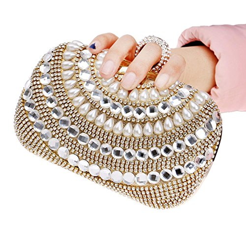 diamanti con catena tracolla tracolla sera e donna strass Pochette PLYY in a per da con w6xA7XXqv