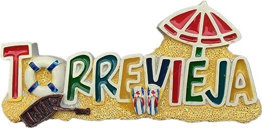 Weekino Souvenir Torrevieja España Imán de Nevera Resina 3D Viaje ...