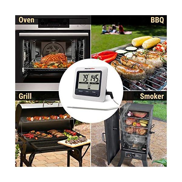 ThermoPro TP04 Termometro Cucina Digitale con Una Sonda e modalità Timer per Alimenti Carne Barbecue BBQ Forno Griglia… 7