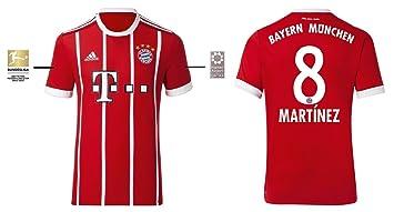 Trikot Herren Fc Bayern 2017 2018 Home Bl Martinez 8 Amazonde
