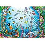 Buffalo Games Beneath The Waves Jigsaw Puzzle featuring The work of Johanna Basford, 500 Piece