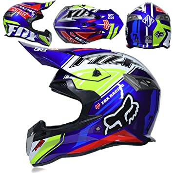 CFYBAO Adulto Motocross Casco Motocicleta Todoterreno Casco Fox  Personalidad Creativa Four Seasons Casco Racing Casco Full Face  Amazon.es   Deportes y aire ... f85b71ca2e7