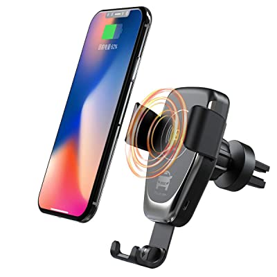 Wireless Car Charger Mount Auto Clamping Qi Fast Charging Air Vent Phone Holder Compatible with iPhone 11/11 Pro/ 11 Pro Max/Xs Max/XR/Xs/8/8 Plus,Samsung Galaxy S10e/S10/S10 Plus/S9/S8+/Note10/10+