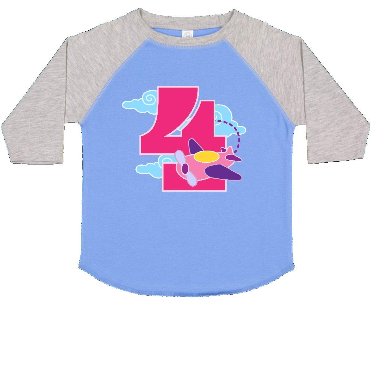 inktastic 4th Birthday Outfit Cute Girl 4 Year Old Toddler T-Shirt