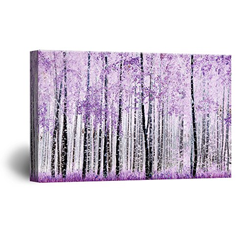 Abstract Trees with Purple Leaves in the Forest Gallery