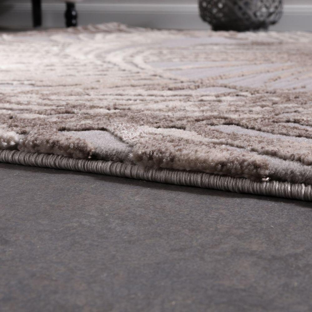 Paco Home Designer Teppich Modern Wohnzimmer Teppiche 3D Palmen Palmen Palmen Muster In Grau Beige Creme, Grösse 120x170 cm B071F9FTR3 Teppiche d8230c