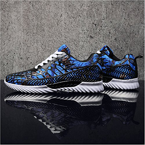 Leader Show Herrenmode Sportschuhe Laufschuhe Lace-up Comfort Walking Sneakers Blau