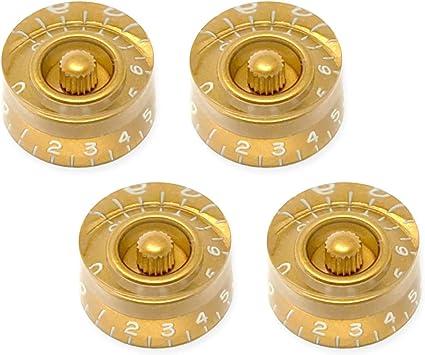 METRIC Epiphone Guitars 18 Spline Quality Speed Knob Set of 4 - GOLD