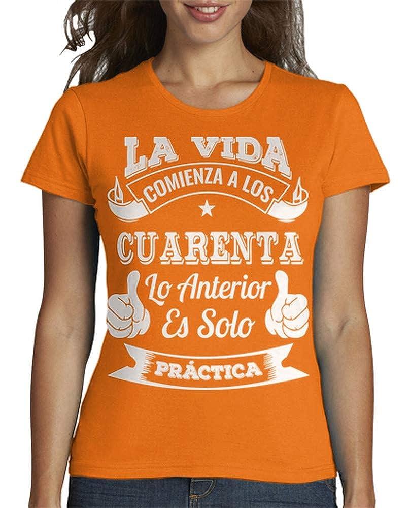 latostadora Camiseta 40 AÑOS DE PRÁCTICA - Camiseta Mujer ...