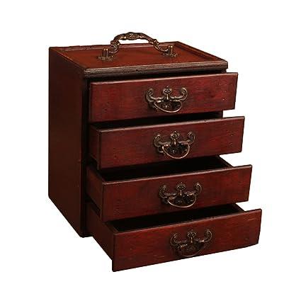 Amazon Com Antique Jewelry Wooden Storage Box Retro Treasure Box