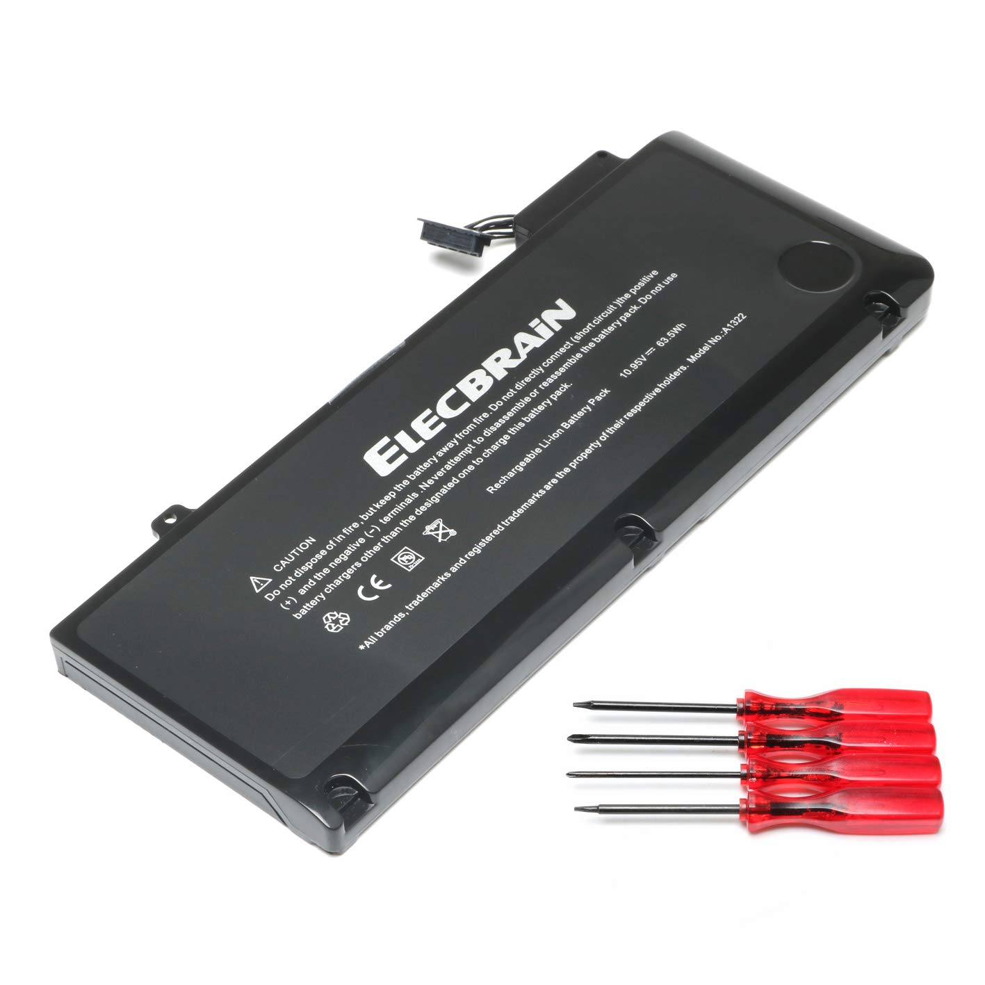 New A1322 Battery for MacBook Pro 13 inch A1278 A1322 [2009 2010 2011 Version] Battery 020-6547-A 661-5229 661-5557 with Four Free Screwdrivers [10.95V 63.5mAh]