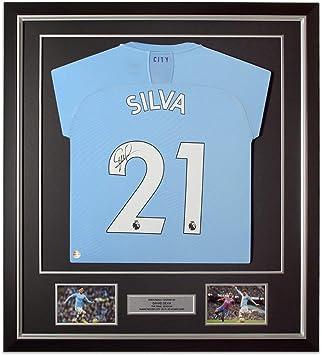 Exclusive Memorabilia David Silva Signed Manchester City Football